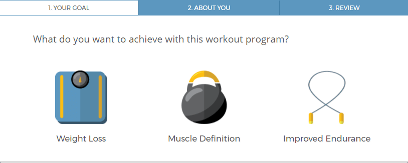 Custom-made personalized workout program